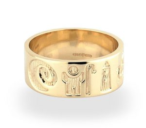 14k Yellow Gold History Of Ireland Ring