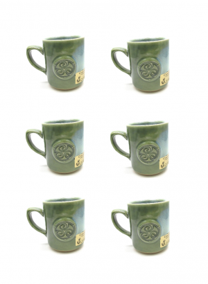 Green Colm De Ris set of 6 Mug