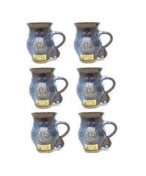 Colm De Ris Blue Belly Mugs Set Six A2