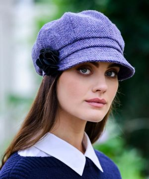 Mucros Ladies Lavender Newsboy Cap