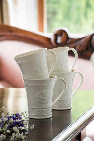 Belleek Claddagh Mug Set