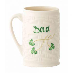 Belleek Shamrock Dad Mug