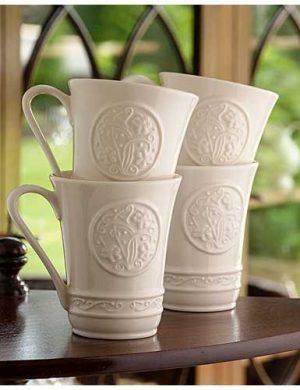 Belleek Irish Craft Mugs Set of 4