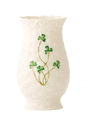 Belleek Kylemore Shamrock 7 Inch Vase