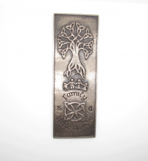 Wild Goose Trinity Family Bronze Wall Art