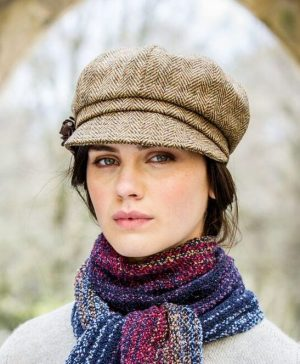 Mucros Brown Newsboy hat