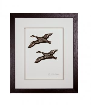 Wild Goose Wild Geese Bronze Plaque