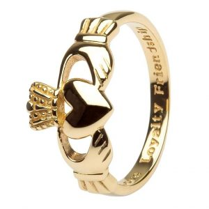 14K Gold Ladies Claddagh Ring