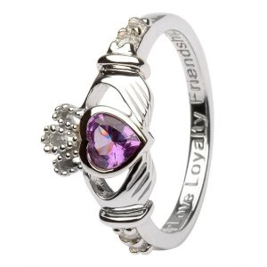 Shanore Sterling Silver June Birthstone Claddagh Ring