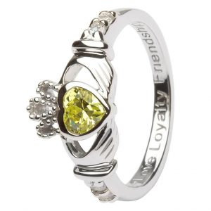 Shanore Sterling Silver August Birthstone Claddagh Ring