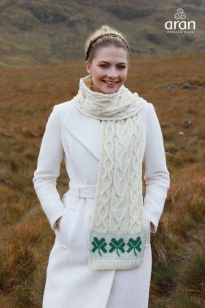 Merino Wool Shamrock Scarf Unisex a843 283