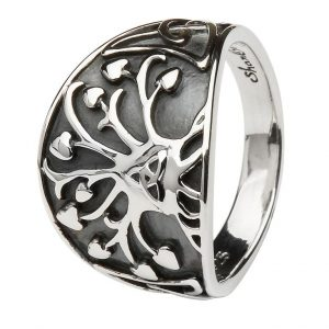 Silver Tree of Life Irish Ring