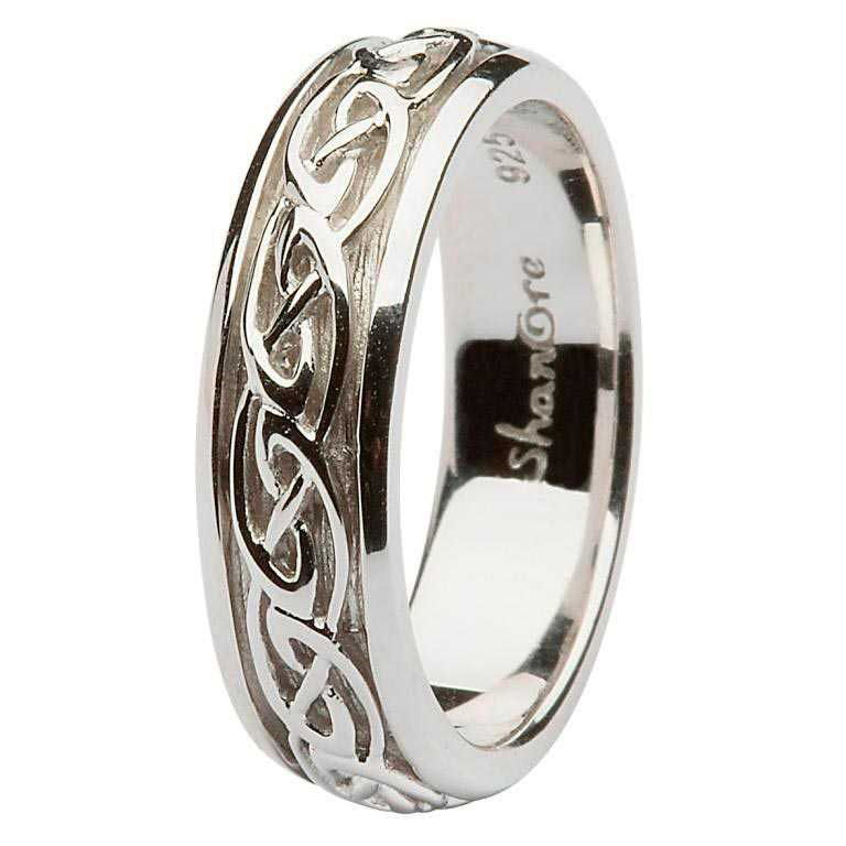 Womens Silver Celtic knot Wedding Band Ring SD10 3833868be