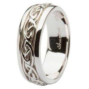 Mens Silver Trinity Knot Wedding Band