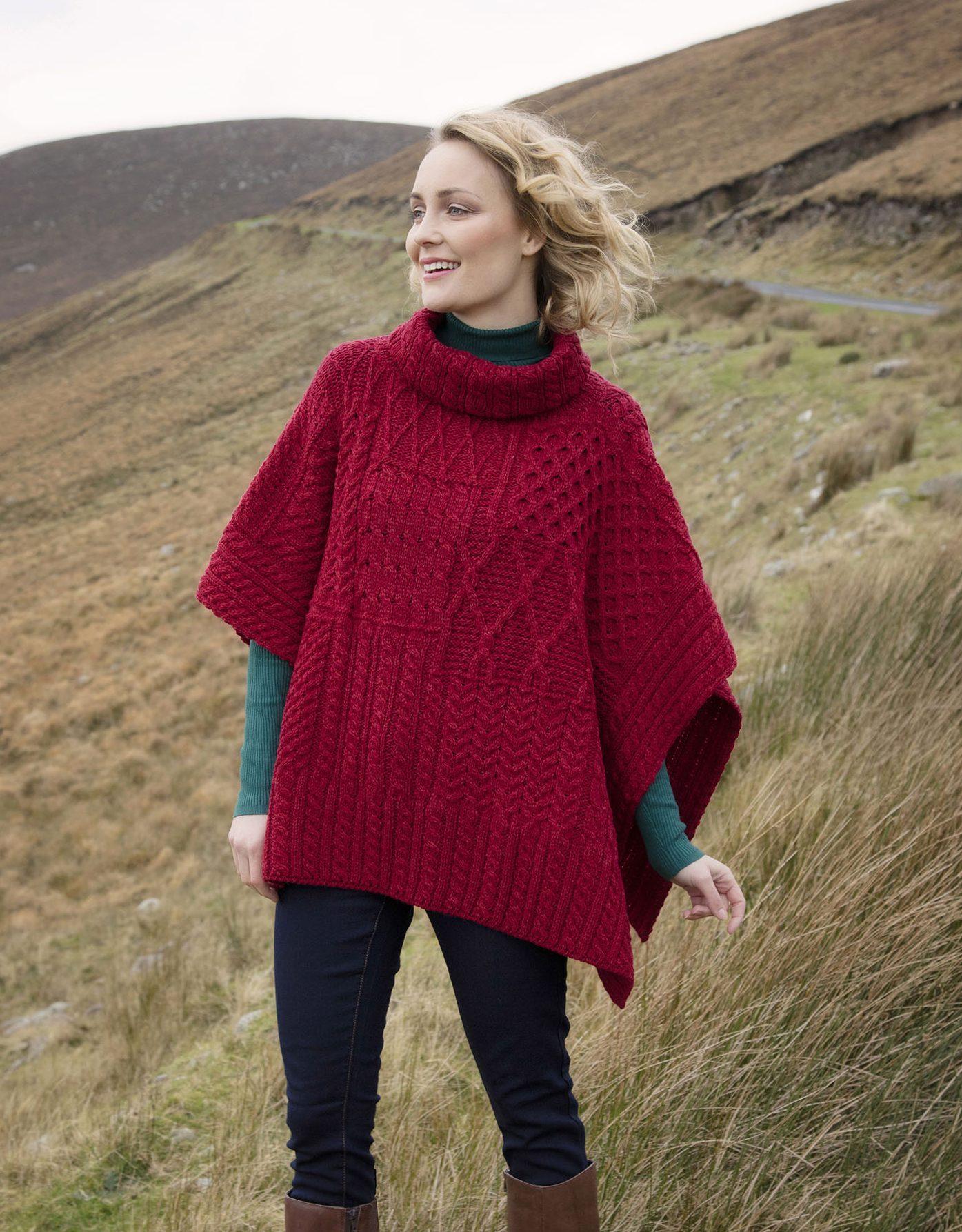 ffedf689ab971f Carraig Donn Irish Aran Wool Sweater Lined Cable Knit Qtr Half Zip Neck  Aran Sweater