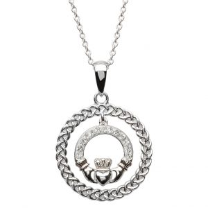 Claddagh Necklace Swarovski Crystal