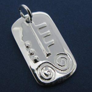 Sterling Silver January Silver Celtic Astrology Pendant