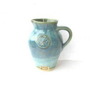 Colm De Ris Irish Pottery Green Medium Belly Jug c2