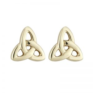 14k Trinity Knot Earrings Medium Studs
