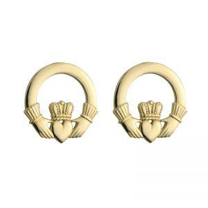 Celtic 14k Small Plain Claddagh Earrings