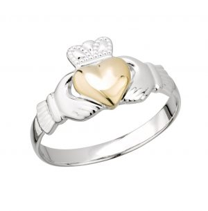 Gold Silver Claddagh Ring