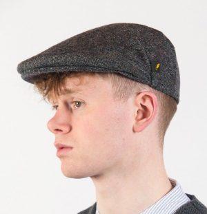 Gray Donegal Tweed Flat Cap