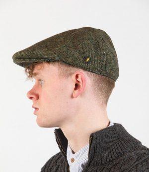 Donegal Tweed Green Flat Cap