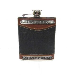 Mullingar Pewter Leather Flask