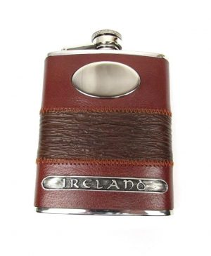 Mullingar Pewter Leather Ireland Flask