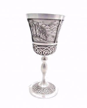 Mullingar Pewter Irish Goblet Brian Boru