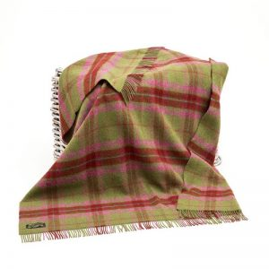 Large Wool Irish Blanket John Hanly 122