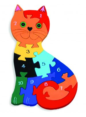 Number Irish Cat Jigsaw Puzzle