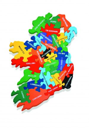 Map of Ireland Jigsaw Puzzle