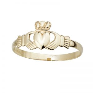 9k Yellow Gold Mini Claddagh Ring