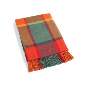 Lambswool Irish Orange Blanket John Hanly 639