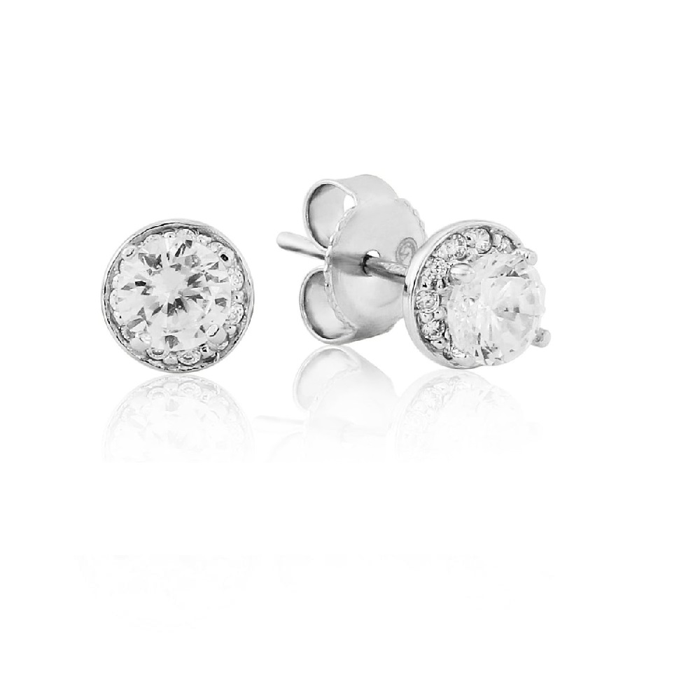 404e215f1 Waterford Crystal Sterling Silver Round Small Earrings