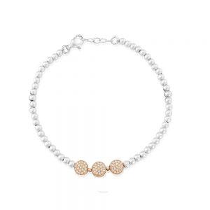 Waterford Crystal Sterling Silver Beaded Bracelet
