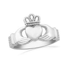 Waterford Crystal Sterling Silver Claddagh Ring