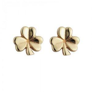 Solvar 14k Gold Shamrock Earrings