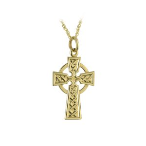 Solvar 9k Gold Celtic Irish Cross Pendant