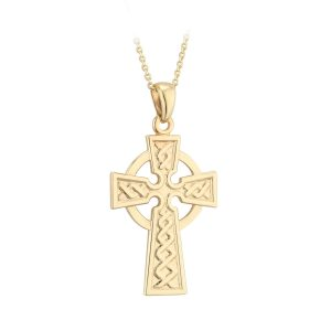 Solvar 9k Gold Celtic High Cross Pendant