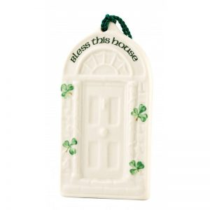 Belleek Bless this House Ornament