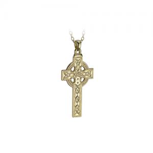 Solvar 14k Gold Celtic Cross Necklace