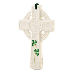 Belleek St Kieran's Cross Ornament