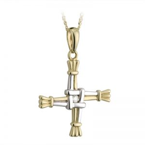 Solvar 14k Gold Diamond St Brigid's Cross