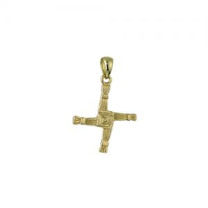 Solvar 14k Gold St Brigid's Celtic Cross Necklace