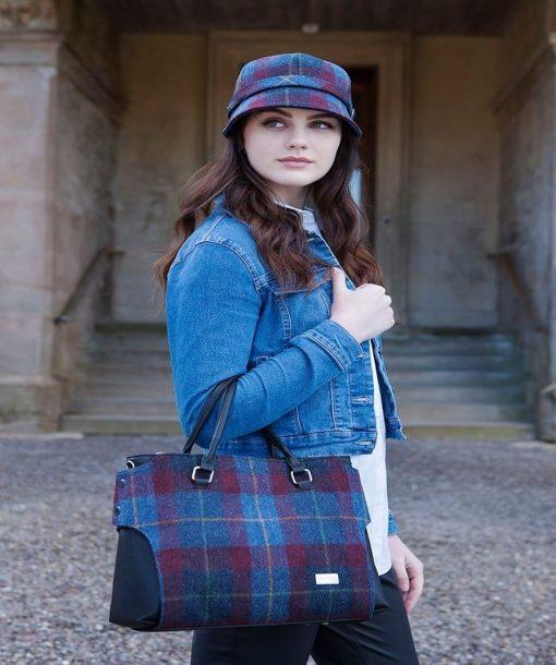 Irish Mucros Emily bag Country Plum 773-4