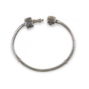 Tara's Diary Sterling Silver Bead Bracelet 7.75 inch