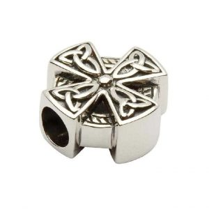 Tara's Diary Sterling Silver Celtic Trinity Cross Bead