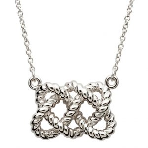 Irish Sterling Silver Fisherman's Knot Necklace